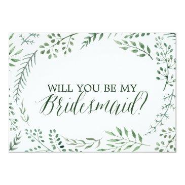green rustic wreath will you be my bridesmaid