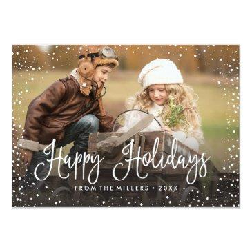 Small Happy Holidays Snow Invitation Front View