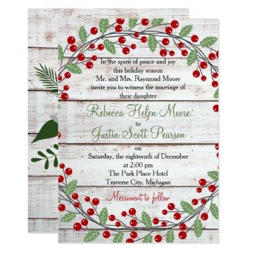 holiday charm winter/christmas wedding