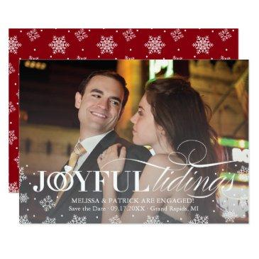 holiday save the date newlywed christmas