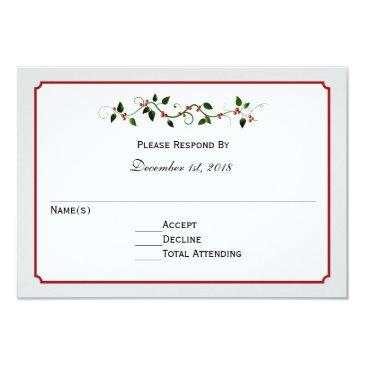 holiday wedding rsvp reply or response