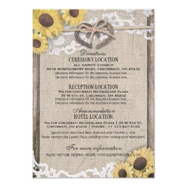 horseshoes burlap lace sunflower wedding details