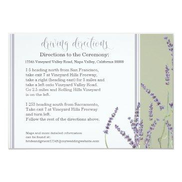 hotel driving directions french lavender script