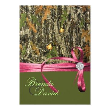 Small Hunting Camo Wedding Front View
