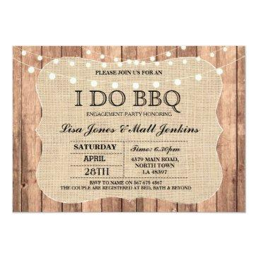 i do bbq burlap rustic engagement