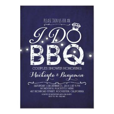 Small I Do Bbq Couples Shower  Navy Front View