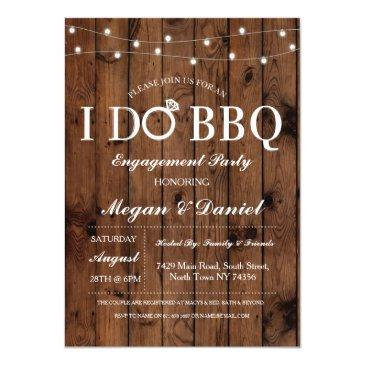 i do bbq engagement couples shower wood invite