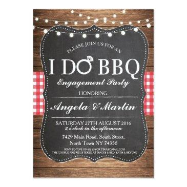 Small I Do Bbq Engagement Party Couples Shower Invite Front View