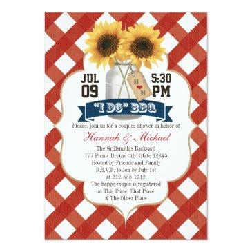 i do bbq sunflower mason jar couples shower