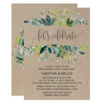 kraft foliage let's celebrate engagement party