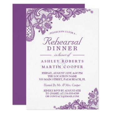 lace lavender purple | wedding rehearsal dinner