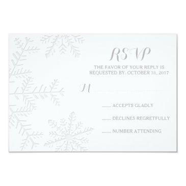 laser-cut snowflakes elegant winter wedding rsvp