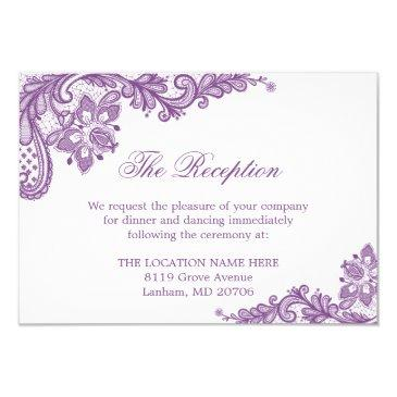 lavender purple lace wedding information details