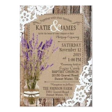 lavender wood lace rustic wedding