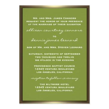 Small Lavish Camo Wedding Invitationss Back View