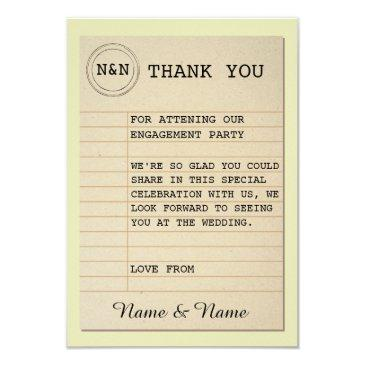 library thank you wedding books love story invitations