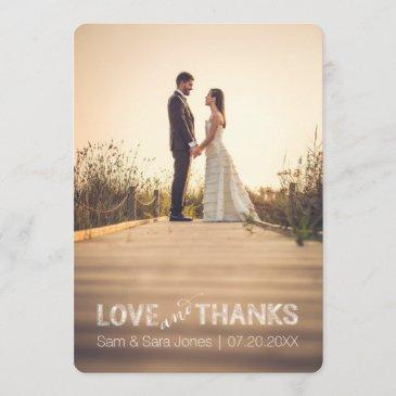 love and thanks | wedding typography overlay | thank you