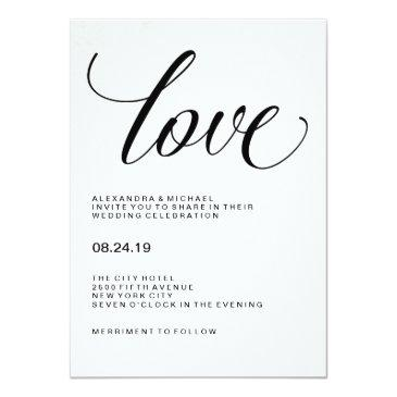 love | wedding typography on watercolor paper