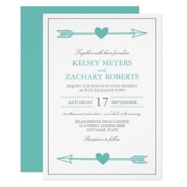 lovely arrows wedding  / teal and gray