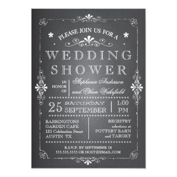 Small Lovely Chalkboard Couples Wedding Shower Invitationss Front View