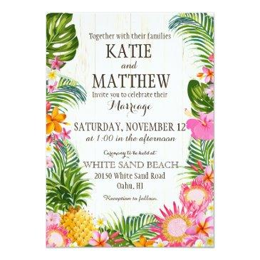 luau hawaiian beach rustic wedding