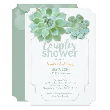 lush green succulents couples shower