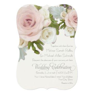 luxurious romantic floral wedding rose succulents invitations
