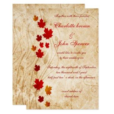 maple leaves rustic fall wedding