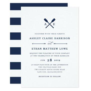 maritime | nautical monogram wedding