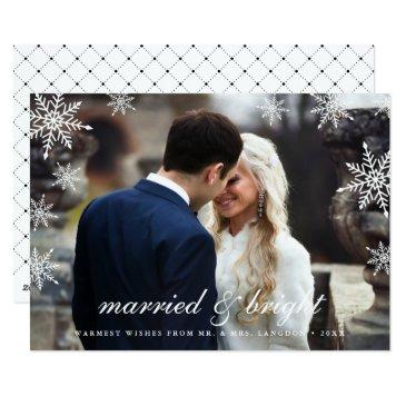 married & bright | newlywed holiday photo