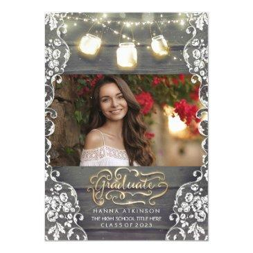mason jar lights rustic photo graduation party