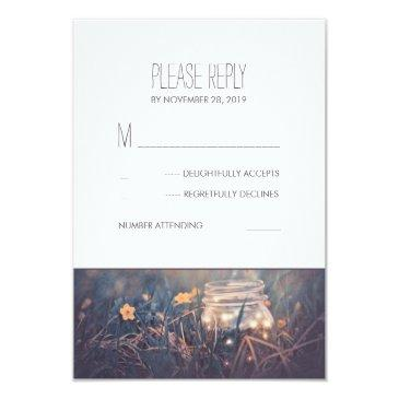 mason jar lights rustic wedding rsvp