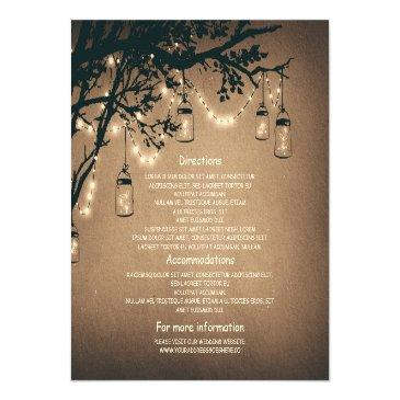 Small Mason Jars And Fireflies Wedding Information Front View
