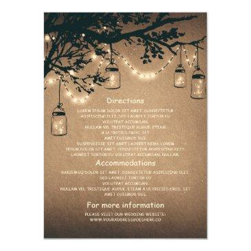 mason jars and fireflies wedding information