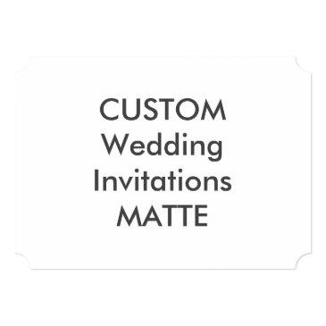 "matte 7"" x 5"" ticket wedding"