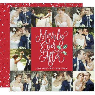 merrily ever after wedding holiday 12 photo invitationss