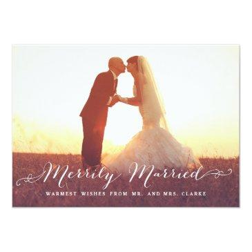 merrily married christmas photo holiday