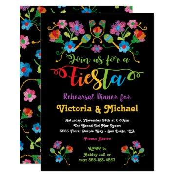 mexican fiesta rehearsal dinner with embroidery