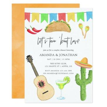 mexican fiesta taco 'bout love couples shower invitation
