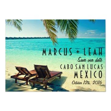 mexico destination wedding save the date