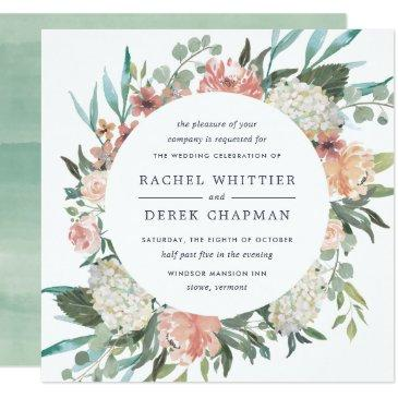 midsummer floral wedding  | square