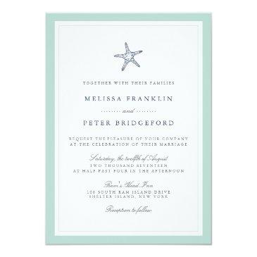 mint and navy starfish nautical wedding