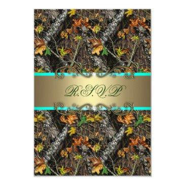 mint formal camo wedding rsvp