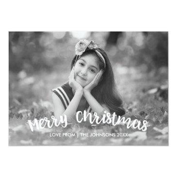 Small Modern Christmas Holiday Photo Invitation Front View
