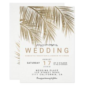 modern faux gold palm tree elegant wedding