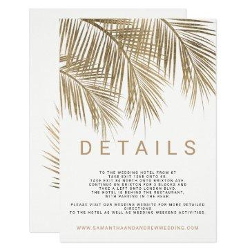 modern faux gold palm tree elegant wedding details
