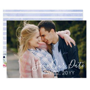 modern floral watercolor wedding save the date