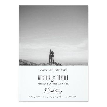 Small Modern & Minimal Wedding Photo Invite Front View