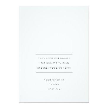Small Modern & Minimal Wedding Photo Invite Back View