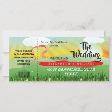 modern rustic festival wedfest wedding invitation